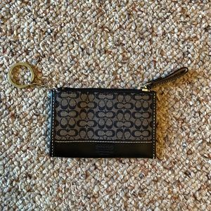 Authentic Coach Key and Card Case